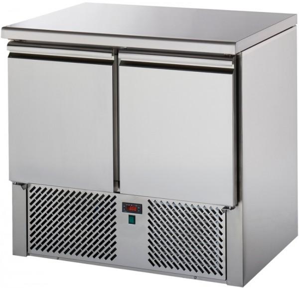 Saladette SL02NX mit 2 Türen, Edelstahl-Arbeitsplatte