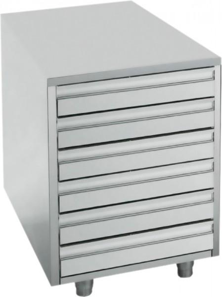 Edelstahl Schubladenblock für 60 x 40 cm Behälter