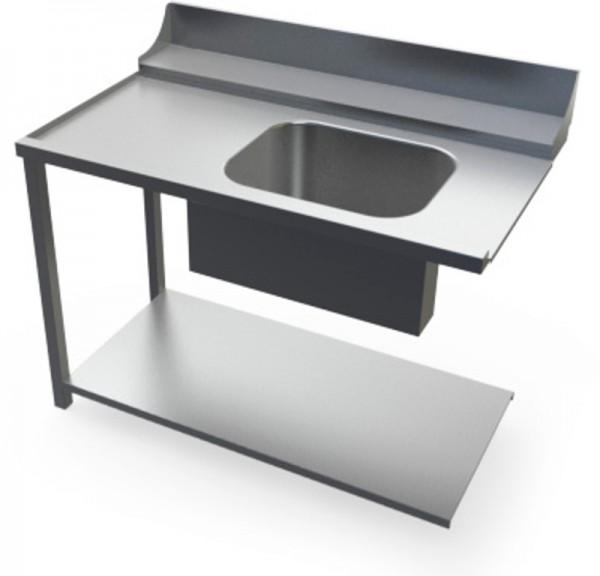 Universeller Eingangstisch mit Waschbecken für Haubenspülmaschine