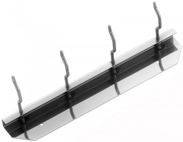 Wandhalterung aus Edelstahl für 4 Schaufeln